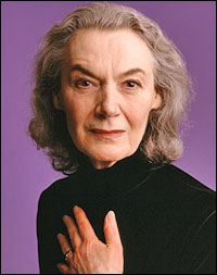 The intense, illustrious, and riveting stage actress, Marian Seldes, would be my ONLY choice to play the beloved witch, Celintha, from 'Rowan Blaize and the Starbane Exile'. She ROCKS any fantasy world.